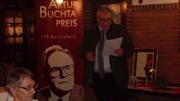 Klaus Haussel bei der Begrüßung